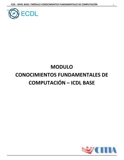 Conocimiento Fundamentales De Computación