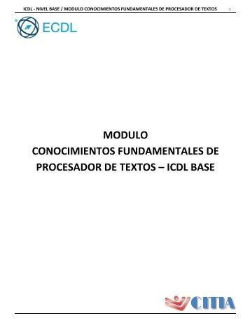Conocimiento Fundamentales de Procesador de textos
