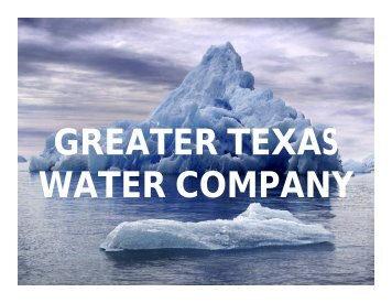 Fountain Classics - GREATER TEXAS WATER COMPANY