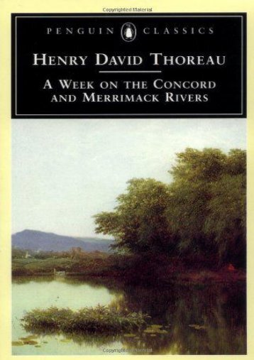 A Week on the Concord and Merrimack Rivers (Penguin Classics)