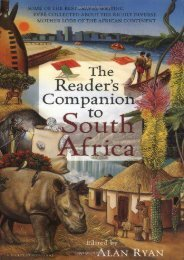 The Reader s Companion to South Africa