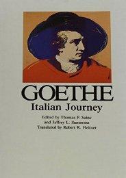 Goethe, Volume 6: Italian Journey (Goethe, Johann Wolfgang Von//Goethe s Collected Works)