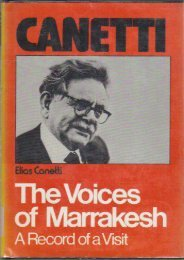 The Voices of Marrakesh; A Record of a Visit