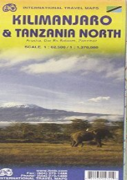 1. Kilimanjaro   Tanzania North Travel Map 1: 62,500/1,370,000