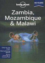 Lonely Planet Zambia, Mozambique   Malawi (Travel Guide)