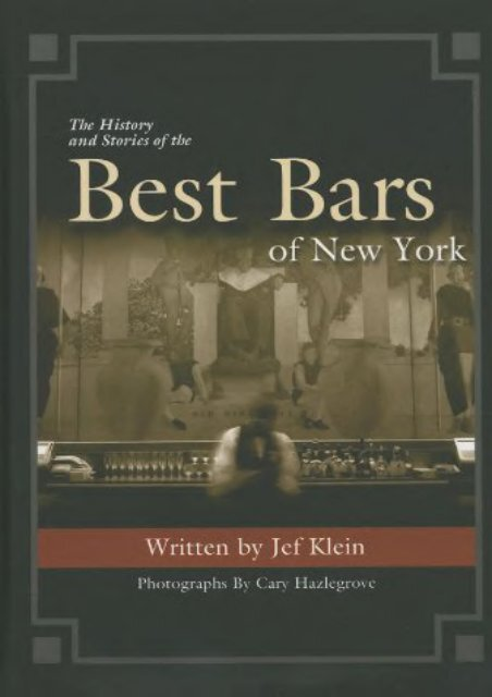 The History and Stories of the Best Bars of New York
