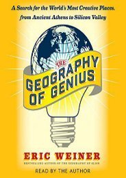The Geography of Genius: A Search for the World s Most Creative Places from Ancient Athens to Silicon Valley