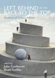 Left Behind in the Race to the Top