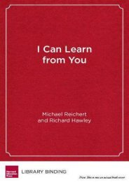 I Can Learn from You: Boys as Relational Learners (Youth Development and Education)