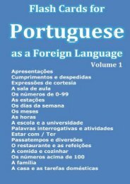 Flash Cards for Portuguese as a Foreign Language