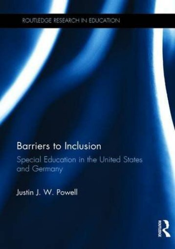 Barriers to Inclusion: Special Education in the United States and Germany