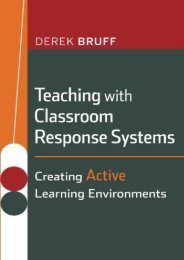 Teaching with Classroom Response Systems: Creating Active Learning Environments (JB-Anker Series)