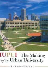 Iupui: The Making of an Urban University