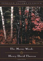 The Maine Woods (Penguin Nature Library)