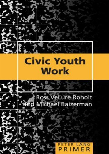 Civic Youth Work Primer (Peter Lang Primer)