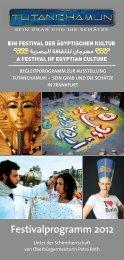 Festivalprogramm 2012 - TUTANCHAMUN - Sein Grab und seine ...