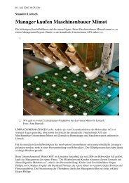 Manager kaufen Maschinenbauer Mimot - Mimot.com