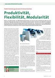 Produktivität, Flexibilität, Modularität - Mimot.com