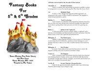 fantasy books, 5th & 6th grades - Center Moriches Free Public Library