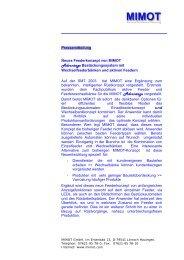 Pressemitteilung - Mimot.com