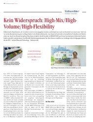 Kein Widerspruch: High-Mix/High- Volume/High-Flexibility - Mimot.com