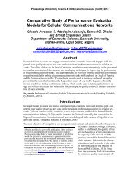 Comparative Study of Performance Evaluation Models for Cellular ...