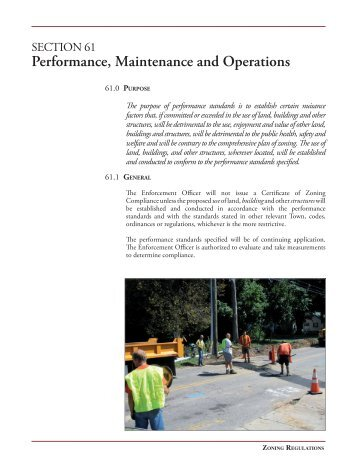 Performance, Maintenance and Operations - Town of Old Saybrook