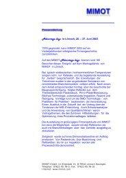 Original Pressemitteilung (PDF) - Mimot.com