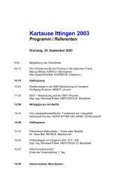 Kartause Ittingen 2003 Programm / Referenten -  Mimot.com