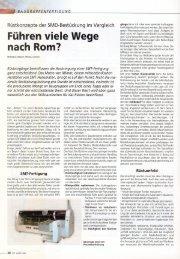 Rüstkonzepte der SMD-Bestückung im Vergleich - Mimot.com