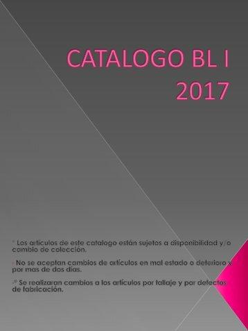 CATALOGO BL 2017