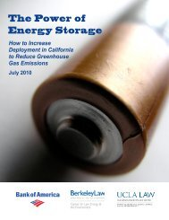 The Power of Energy Storage: How to Increase - Berkeley Law ...