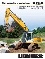 The crawler excavator. R 924 B - Liebherr