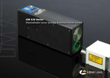 LTM 530 Series Photodiode Laser Energy Monitors ... - Litron Lasers