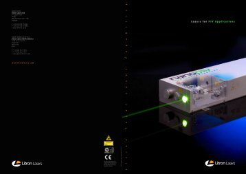 Litron PIV Laser Products Brochure (PDF file 1.7 - Litron Lasers