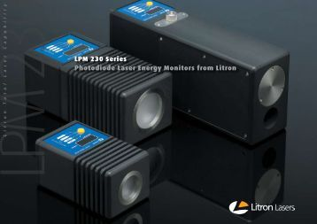 LPM 230 Series Photodiode Laser Energy Monitors ... - Litron Lasers