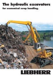 Hydraulic scrap metal machines