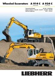 Wheeled Excavators A 924 C A 914 C