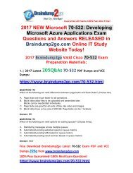 (2017-Aug-Version)New 70-532 VCE and 70-532 PDF Dumps 205Q&As Free Share(172-190)