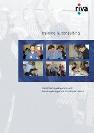 PDF (deutsch, 320 KB) - riva training & consulting GmbH