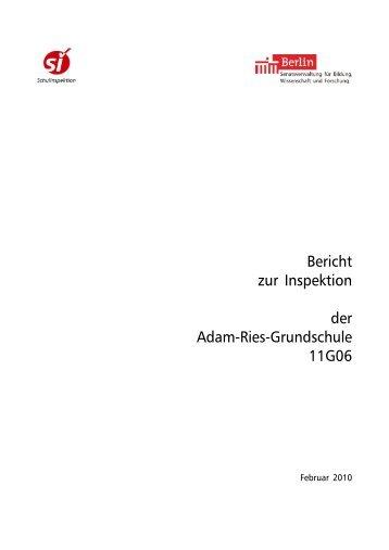 Bericht zur Inspektion der Adam-Ries-Grundschule 11G06