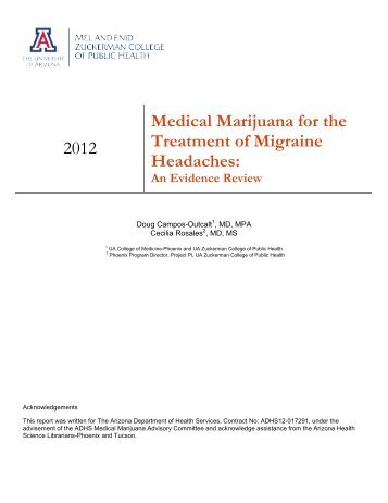 2012 Medical Marijuana for the Treatment of Migraine Headaches: