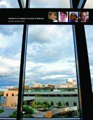 university of vermont college of medicine annual report 2006