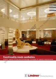 Lindner Interior Fit-out and Furnishings - Lindner Group