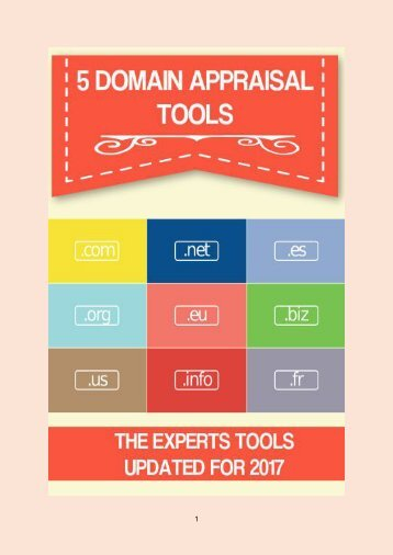 5 Domain Appraisal Tools