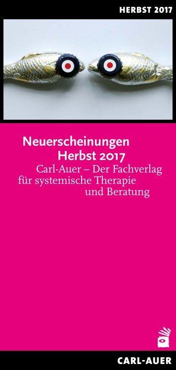 Carl-Auer Verlag Neuerscheinungen Herbst 2017