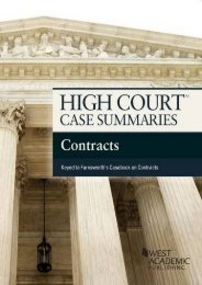 Read PDF High Court Case Summaries on Contracts, Keyed to Farnsworth -  Populer ebook - By West Academic