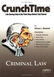 Unlimited Ebook Criminal Law (Crunchtime) -  Best book - By Steven L. Emanuel