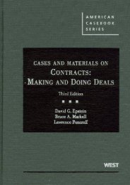 Full Download Cases and Materials on Contracts: Making and Doing Deals (American Casebooks) -  Best book - By David G Epstein