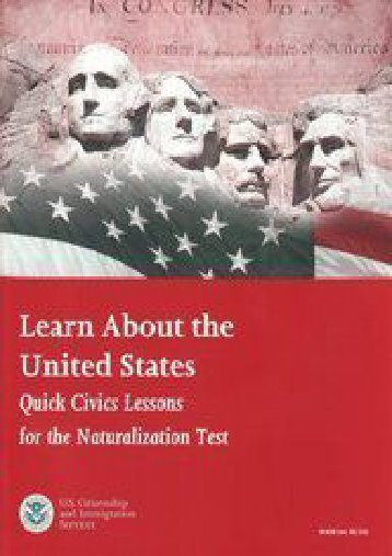 "Full Download Learn About the United States: Quick Civics Lessons for the Naturalization Test with Audio CD ""100 Questions and Answers for the Naturalization Test"" -  Best book - By"